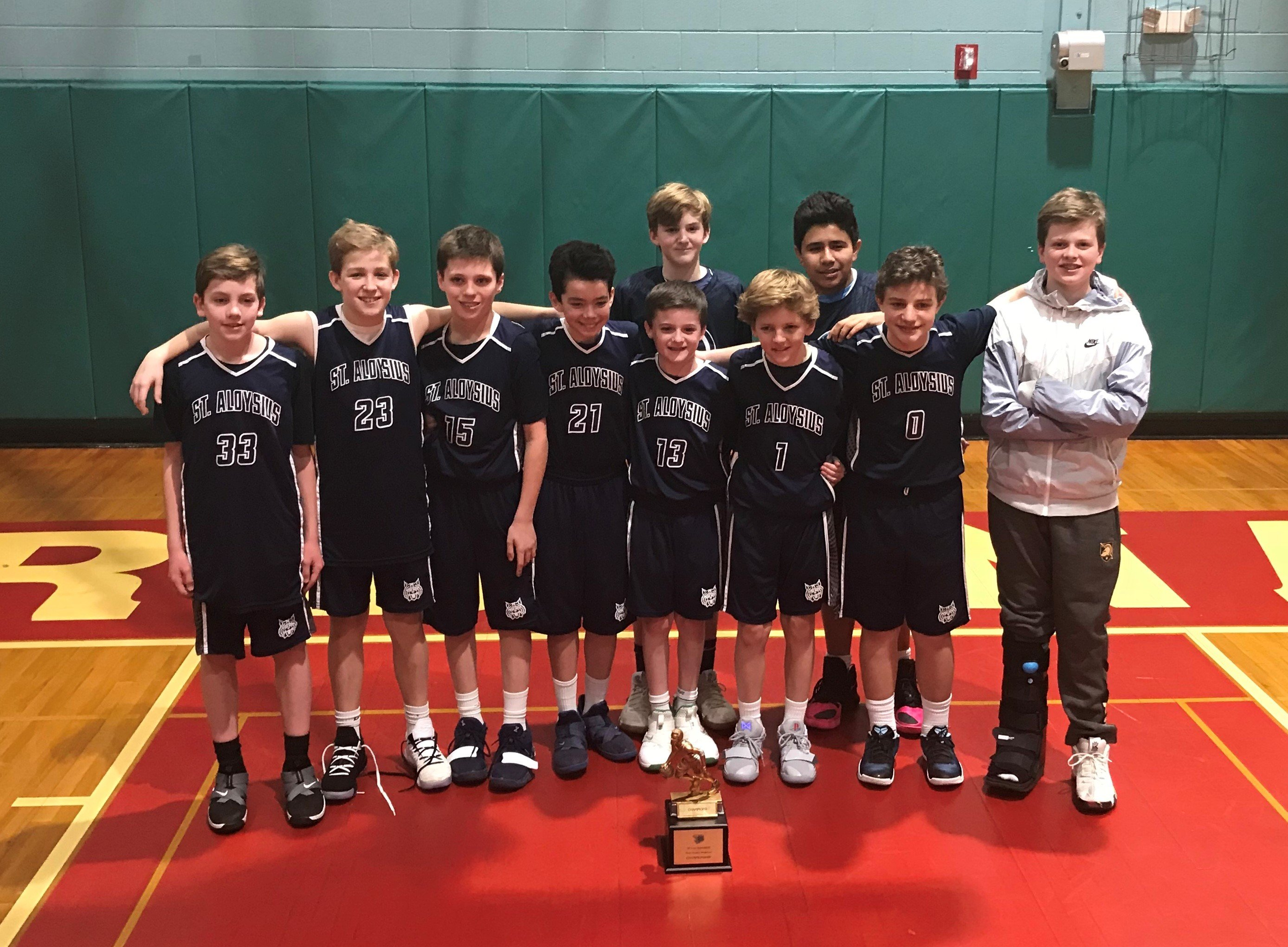 JV A Basketball Team Are Archdiocesan Champions